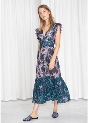 Шикарное платье миди, сарафан & other stories, цветочный принт