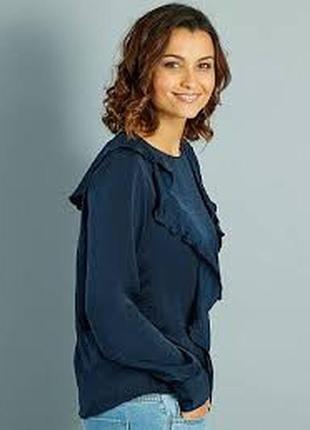 Брендовая атласная блуза kiabi m, сток оригинал европа