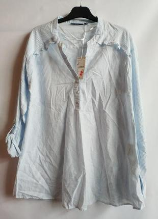 Лёгкая хлопковая рубашка блуза французского бренда kiabi м, сток европа оригинал
