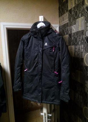 Salomon clima pro теплая зимняя куртка парка лыжная горнолыжная трекинговая