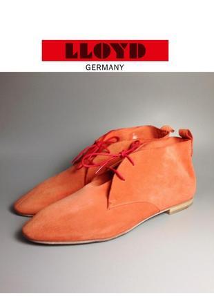 🔥скидка🔥lloyd germany замшевые женские туфли на шнуровке оксфорды коралл эскадрильи