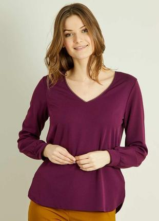 Плотная трикотажная блуза французского бренда kiabi , s, европа