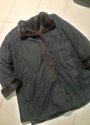Теплая куртка/плащ со съемной подкладкой из кролика большого 20 размера