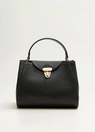 Mango новая стильная женская сумка под сафьян в руках или на плечо от манго