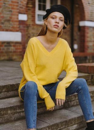 Джемпер, свитер лимонного цвета/джемпер, світер лимонного кольору