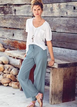 Новые льняные штаны лен-вискоза размера xs-s