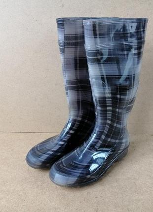 Резиновые сапоги g&g италия женские серые высокие