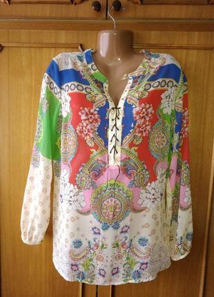 Красивая блуза в принт alba moda, eur 42/uk16