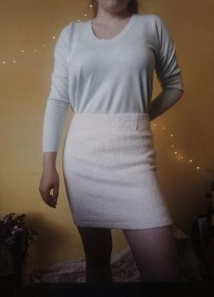 Шерстяна , тепла, модна спідниця!