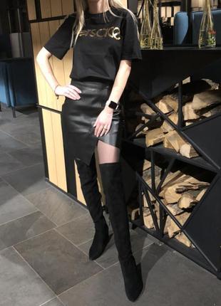 Трендовая юбка под кожу