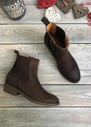 Kickers замшевые ботинки казачки