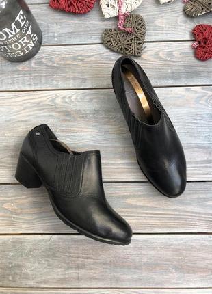 Footglove кожаные ботильоны, ботинки на широком каблуке
