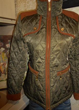 #vince camuto# крутая стеганая утепленная куртка на подкладке# #