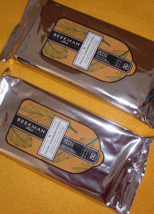 Салфетки для снятия макияжа beekman сша