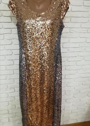 Роскошное новое платье из паетков,р.xxl
