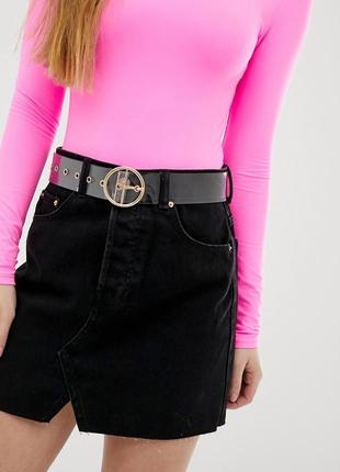 Черная джинсовая юбка zara