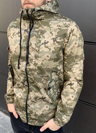 Весенняя куртка штормовка камуфляж