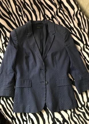 Шикарный пиджак в горох benetton