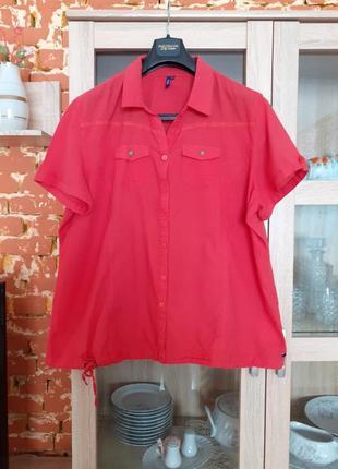 Обалденная котоновая рубашка cecil большого размера