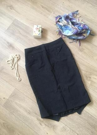 Классическая юбка чёрная миди оригинального пошива oodji