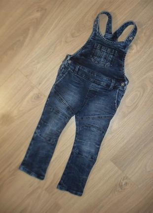 Плотный джинсовый комбинезон на 18-24мес
