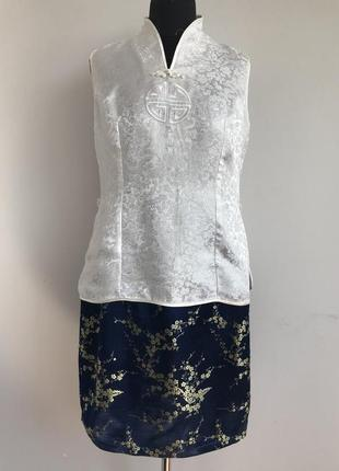 Китаянка китайский традиционный костюм 46/48 японка ципао