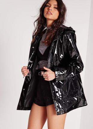 Новая с этикеткой куртка из лаковой эко кожи missguided