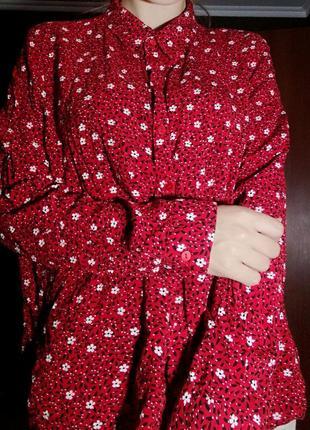Рубашка блуза в цветы primark