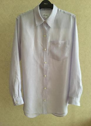 Льняная рубашка в мужском стиле gap