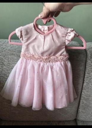 Платье на девочку 6-9 месяцев mamas&papas