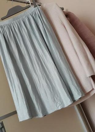 Замшевая юбка  миди  1+1=3