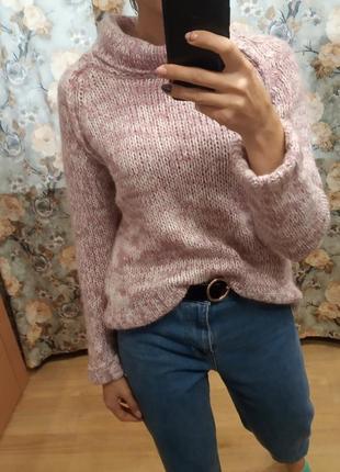 Теплый свитер с мохером и шерстью