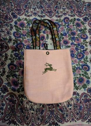 Сумка с вышивкой a.k.bag