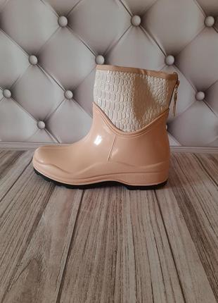 Ботинки резиновые утепленные. сапоги женские резиновые