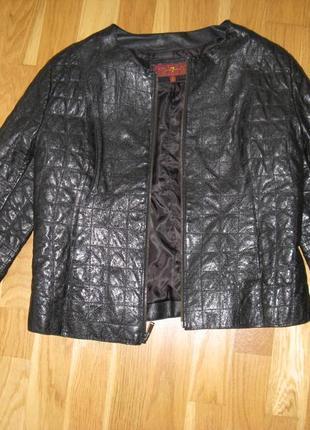 Кожанная куртка пуховик 7forallmankind