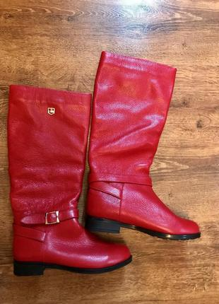 Сапоги италия, 38р ,натур кожа, ботинки, сапожки
