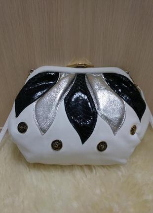 Эксклюзивная кожаная сумка на плечо janet shilton