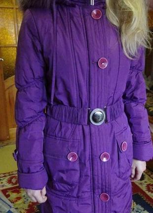 Куртка зимняя на девочку, длинная теплая куртка, , зимнее пальто, пуховик