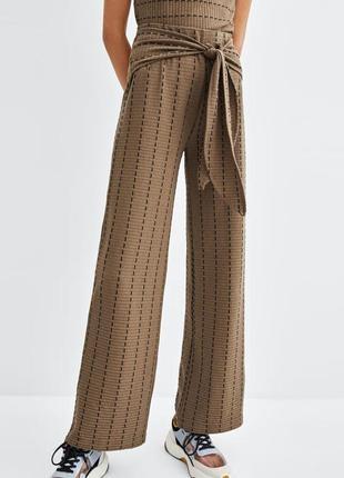 Широкие штаны брюки от zara, p. m