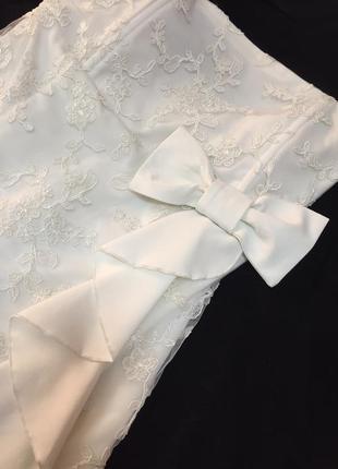 Великолепное белое платье gertie, р. s! новое!
