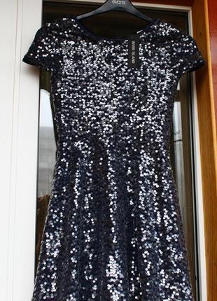 Платье, пайетки, паєтки, сукня, плаття, нарядное, серебряное