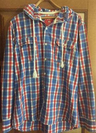 """Классная мужская рубашка с капюшоном  """"fsbn """"."""