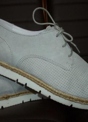 Шикарные туфли оксфорды натуральная кожа verese