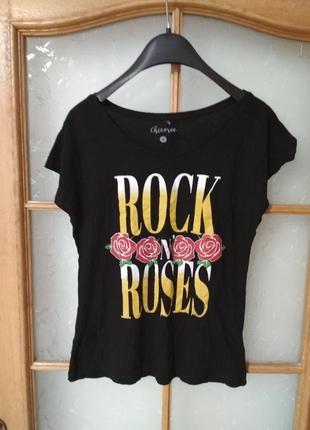 Стильная футболка с надписью принтом от chicoree, p. m