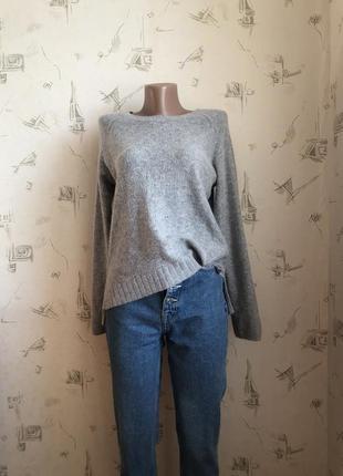 H&m шерстяной свитер свитерок из шерсти, теплый шерстяной свитер/кофта h&m, вязаный свитер