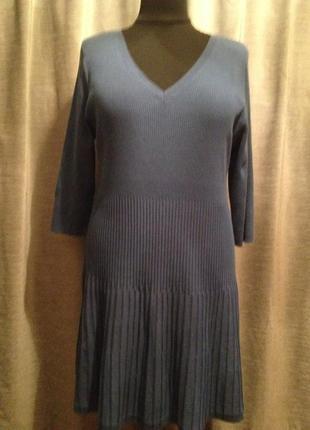 Оригинальное вязанное платье большого размера.110