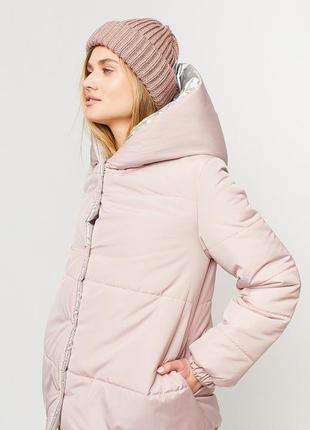 Двухсторонняя зимняя куртка свободного кроя