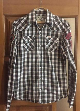 """Классная мужская рубашка """"scotch&soda """"."""