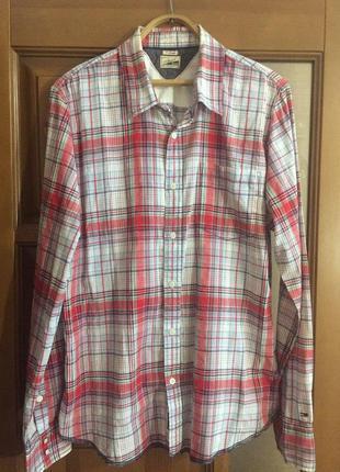 "Классная мужская рубашка ""tommy hilfiger """