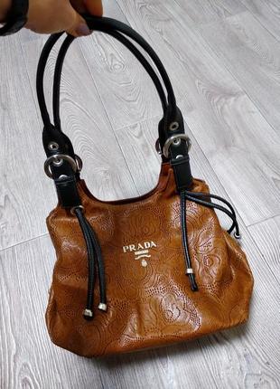 Крутая модная сумка с тиснением очень вместительная